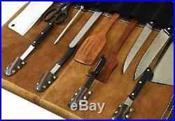 10 POCKET Chef Knife Bag Roll Bag Carry Case Kitchen Bag Portable Storage Pouch