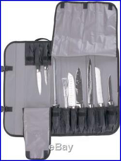 10 piece forged knife case set culinary kitchen roll chef strap carrier storage knife storage case. Black Bedroom Furniture Sets. Home Design Ideas