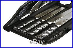10 Piece Professional Stainless Steel Chefs Knife Set in Storage Carrying Case