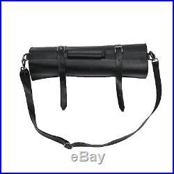 10 Pocket Chef Knife Bag Large Knife Roll Hard Leather Zipper Storage Case Gift