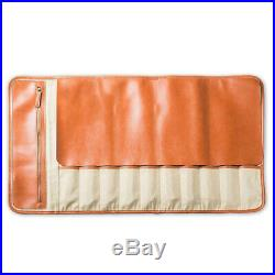 10 Slots Chef Knife Roll Bag Leather Holder Bag Portable Cook Knife Storage Case