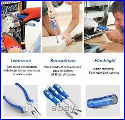 102pcs Home Repair Tool Kit Set Box Storage Case General Household Mechanics New