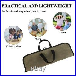 10XKnife Bag(4 Slots) Chef Knife Case Waxed Canvas Roll Storage Knife Carrying