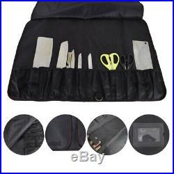 12 Pockets Chef Knife Roll Bag Lightweight Kitchen Cook Storage Case Organizer