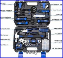 120pcs Tool Box Kit Set Storage Case Mechanics Household Home Repair General New