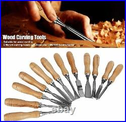 12PCS wood carving flea knife, ergonomic wood carving tool, with storage case