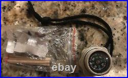14 Survival Knife Set With Hidden Handle Storage With Compass & Sewing Kit