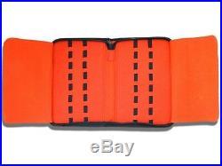 16 Folding Pocket Knife Roll Up Storage Display Case Collection Holder Black Red