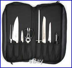 16-Pocket Culinary Satchel Black Knife Storage Items Knife Cases, Holders & Prot