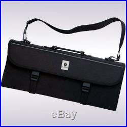 17 Pocket Culinary Knife Case Kitchen Transport Storage Bag Black Heavy Duty New
