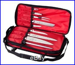 17-Pocket Knife Case Mercer Culinary Double-Zip cutlery bag holder storage chef