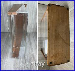 1950s Ballou Pocket Knife Display Case Cherry Wood Sign Store Advertising Locks