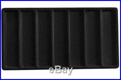2 Black 35 Slot 5 Drawer Bracelet Pens Knife Display Storage Cabinet Cases