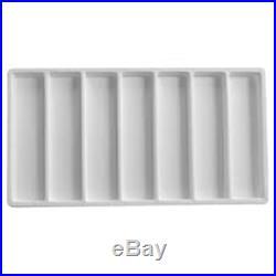2 White 35 Slot 5 Drawer Bracelet Pens Knife Display Storage Cabinet Cases