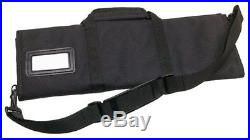 2001-12BN 12-Piece Knife Roll Black Storage Bag Case Chef Carrying Protector NEW