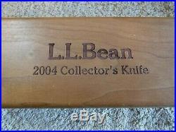 2004 L. L. Bean Collector's Edition Knife Wood Storage Case Schrade PH2