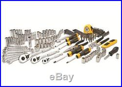 210pc Mixed Tool Set Wrench Socket Drive Pliers Screw Driver Knife Storage Case