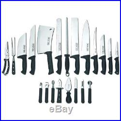 22 Piece Slitzer cutlery chef knife set with storage case New Free Shipping