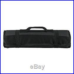 22 Pockets Chef Knife Bag Roll Bag Carry Case Foldable Portable Kitchen Storage