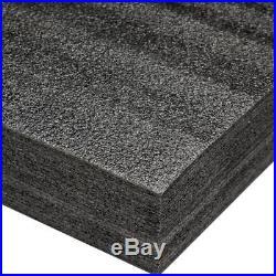 24x48 Cuttable Tough Foam For Drawer Tool Boxes Gun Knife Storage Cases Black