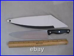 3 Pampered Knives Chef 8, Utility 5, Paring 3& Self Sharpening Storage Case