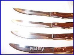 4 CUTCO #1059 Serrated Steak Knife Storage Case Set FACTORY SHARPENED