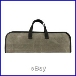 4 Slots Chef Canvas Knife Roll Bag Zipper Kitchen Cooking Storage Case Foldable