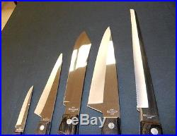 5 Piece Ekco Arrowhed EHP Knife Set with Storage Wood Case American USA, Vintage
