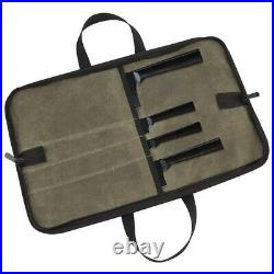 5XKnife Bag(4 Slots) Chef Knife Case Waxed Canvas Roll Storage Knife Carrying