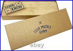 6 Chef Knife & Wooden Cutting Board/Storage Case Kitchen Set SMOKED Series 6