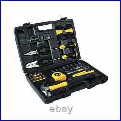 65 Piece Piece Tool Set General Household Hand Tool Kit Toolbox Storage Case NEW