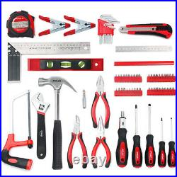 71-piece Steel Household Hand Tool Kit With Sturdy Compact Storage Case