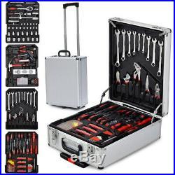799 PCS Tool Set Wheeled Aluminum Alloy Trolley Case Box Storage Free Shipping