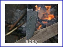 8 Chef Knife & Wooden Cutting Board/Storage Case Kitchen Set SMOKED Series