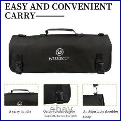 8 Slot Chef Knife Bag Roll Carry Case Adjustable Straps Kitchen Cooking Storage