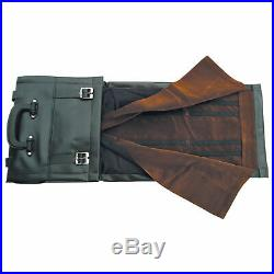 8 X 12 Knife Roll Black Vinyl Storage Carrying Case Holds Up To 60 Knives