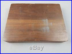 8 pc Set 1059 Cutco Serrated Steak Knives Wooden Handle in Wood Storage Case