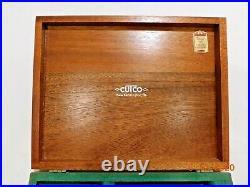 8x Cutco 59 Table Knives With Wood Storage Case Box Euc Condition 1059 1759