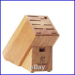 9 Slot Knife Knives Cutlery Block Case Storage Holder Wood Wooden Hardwood Rack
