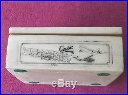 A Superb Case Knife Marble Storage Box Great For Father's Day Coa