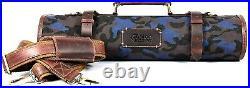 Aaron Reserve 10 Pockets Knife Case Roll Storage Bag Detachable Shoulder Strap