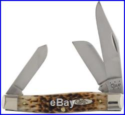 Amber Bone Large Stockman Pocket Knife Blades Fold Into Handle Storage New Style