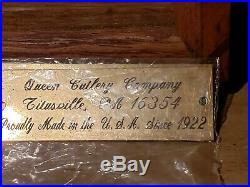Antique Case Queen Steel Cutlery Store Knife Display Case 3 Shelf 18.5