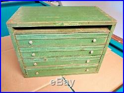 Antique Knife Watch Apothecary General Store Counter Top Dovetail Display Case 2