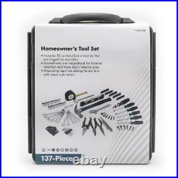 Anvil Home Tool Kit Set 3/8 in. Drive Storage Case Molded-Blow 137-Piece