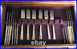 Artistic Flatware Set By Arcadian With DeLuxe Storage Case Home Decorators 44 Pc