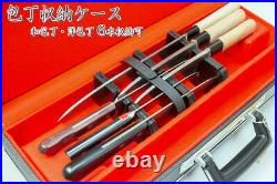 Attache Case for Kitchen Knives Storage Case Japan 6 Slots With Key Carry Case