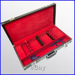 Attache Case for Kitchen Knives Storage Case Japan 8 Slots With Key Carry Case