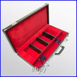 Attache Case for Western Kitchen Knives Storage Case 12 Slots With Key