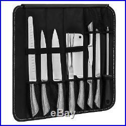 BCP 9-Piece Kitchen Knife Tools Set with Storage Case Black